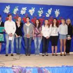 widowisko na cześć MAM w wykonaniu młodzieży gimnazjalnej ze Słupi, pod kierunkiem pani Janiny Zając